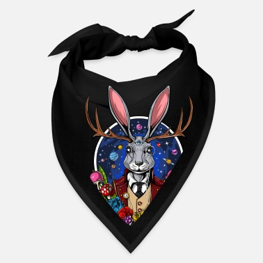 Magic Jackalope Psychedelic Rabbit Magic Mushrooms Trip - Bandana