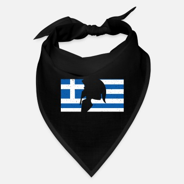 Greek Greek Flag Sparta Helmet Design - Bandana