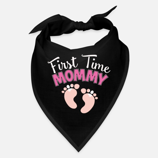 Time Caps - First Time Mommy Mothers Gift - Bandana black