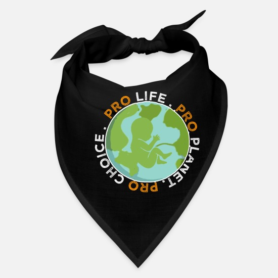 World Caps - Pro Life Choice Planet Gift Shirt - Bandana black