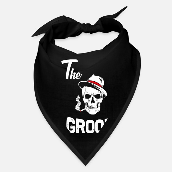 Alcohol Caps - Groom to be the groom bachelor party wedding - Bandana black