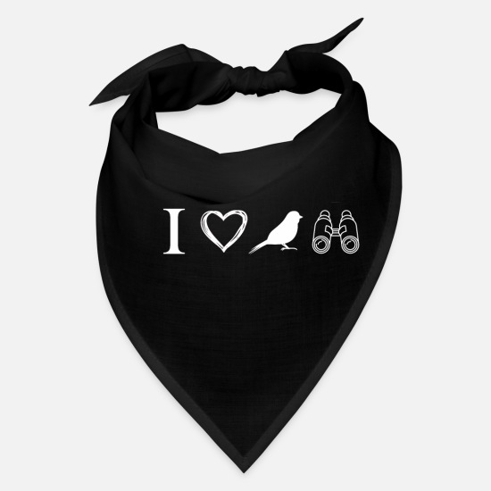 Bird Caps - I Love Bird Watching - Bandana black