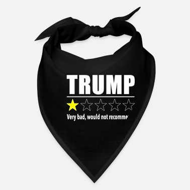 Funny Donald Trump Review- Anti Trump Design - Bandana