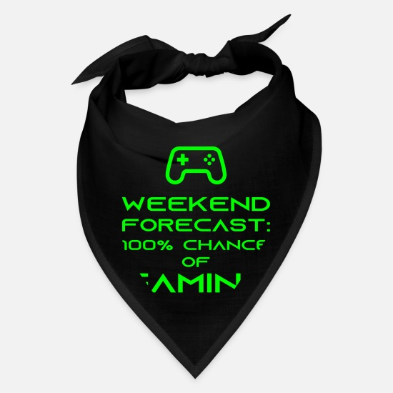 Game Caps - Weekend Forecast 100 Chance Of Gaming Fun Gamer - Bandana black