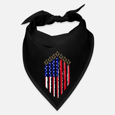 Fan Patriotic Saints Fan on 4th of July American Flag - Bandana