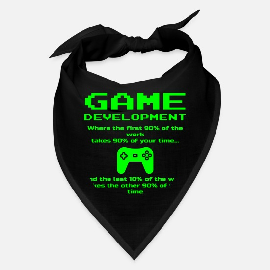 Game Caps - Indie Game Developer Funny Development Designer - Bandana black
