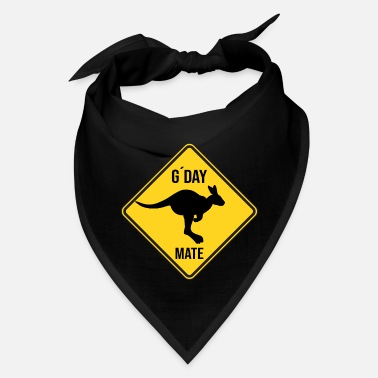 Road Sign Kangaroos Australien Attention Wallabys gday Mate Road Sign - Bandana