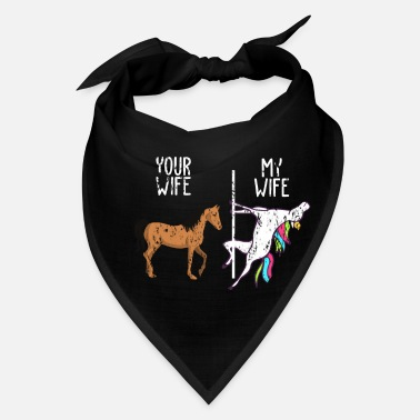 Husband Unicorn Magic Rainbow Gift wife - Bandana