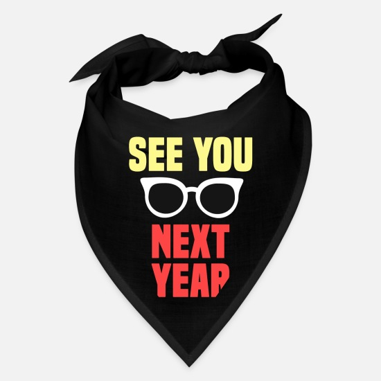 Teacher Caps - See You Next Year Funny Last Day Of School Shirt Student - Bandana black
