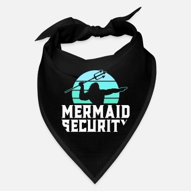 Vintage Mermaid Mermaid Security Vintage Water Polo Shirts Men - Bandana