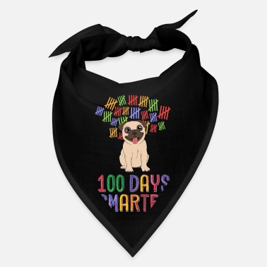 Dog Girls 100 Days Smarter 100th Day of School Outfit Dog - Bandana