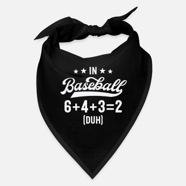 Softball Funny Baseball Shirts For Men Coach 6+4+3=2 - Bandana