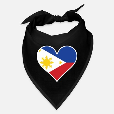 Filipino Flag Filipino Flag Heart - Bandana