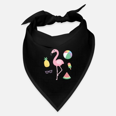 Flamingo Popsicle Flamingo Beach Summer - Bandana