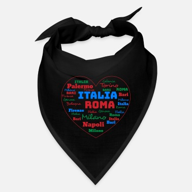 Cuore ITALY HEART ITALIA CUORE WORD CLOUD HOLIDAY (AZUR) - Bandana