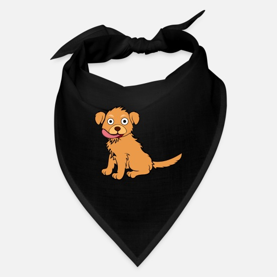 Cute Dog Caps - Cute Golden Retriever Licking - Bandana black
