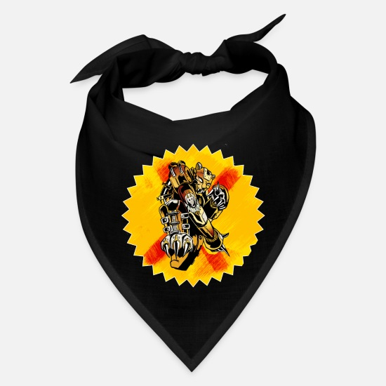 Light Bulb Caps - Vintage Steampunk Tiger - Bandana black