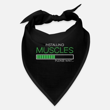 Fitness Installing muscles funny fitness shirt - Bandana
