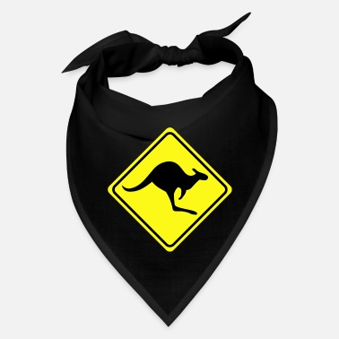 Road Sign Kangaroos warning sign kangaroo 2col - Bandana