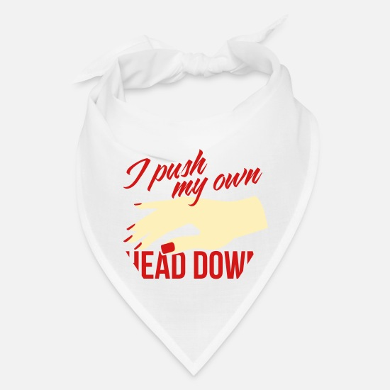 Alcohol Caps - I push my own head down - Bandana white
