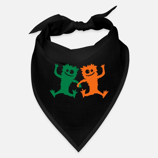 Hairy Caps - 2 Party Monster team dancing hairy - Bandana black
