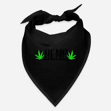 Hemp hemp with leaf - Bandana