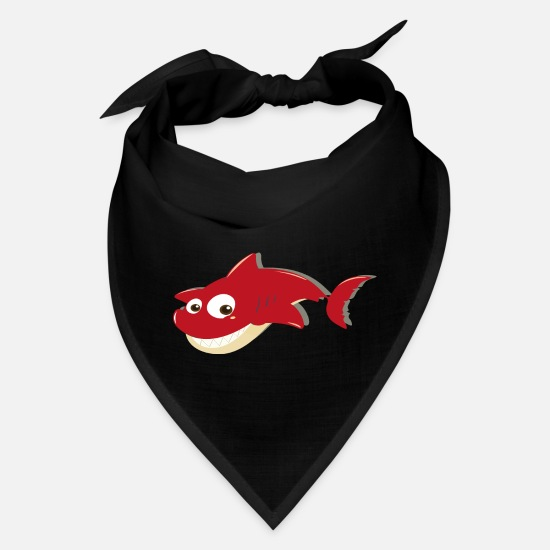 Shark Caps - Baby Shark Red - Bandana black