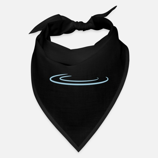 Rain Caps - Water Drop Wave - Bandana black