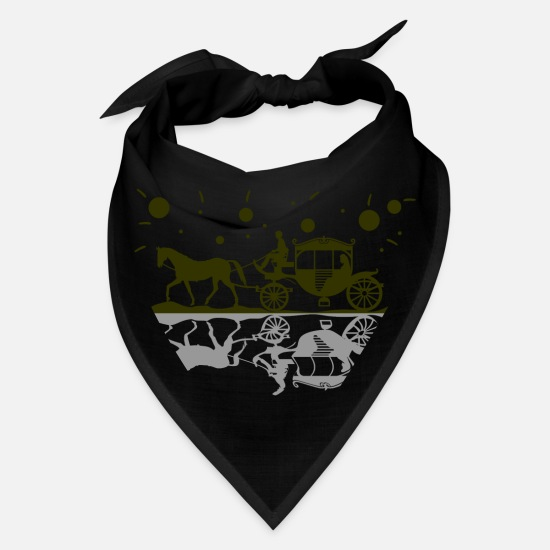 Foal Caps - Horsedrawn carriage horse romance love - Bandana black