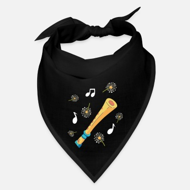 Wind Instrument Flute Instrument Music Dandelion-Themed Art Gift - Bandana