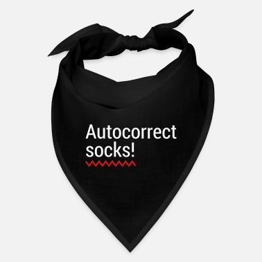 Text Message Autocorrect Socks text message SMS Smartphone - Bandana