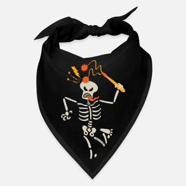 Flail Skeleton breaking skull with ball and chain flail - Bandana