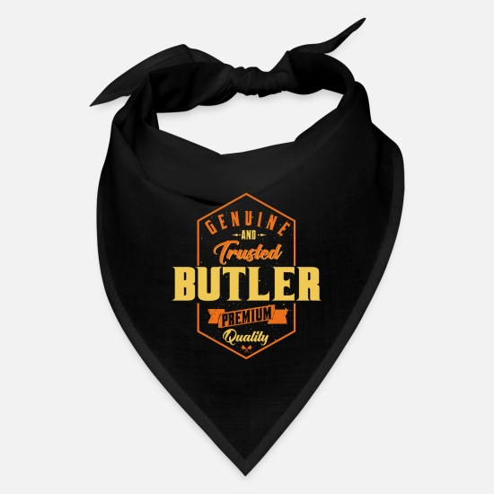 Blooger Funny Gifts Caps - Genuine and trusted Butler - Bandana black