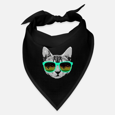 Music Cat with Glasses - Bandana