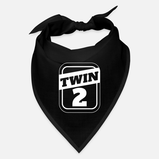 Father Caps - Twin 2 Twins Siblings Funny Gift Idea - Bandana black