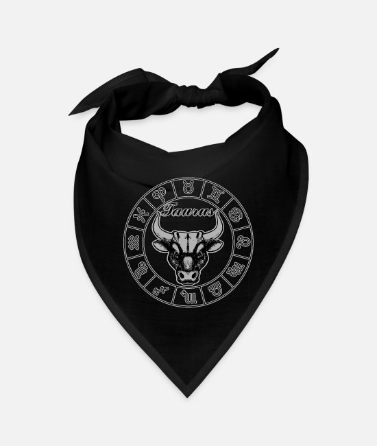 Winter Bandanas - Taurus Horoscope - Bandana black
