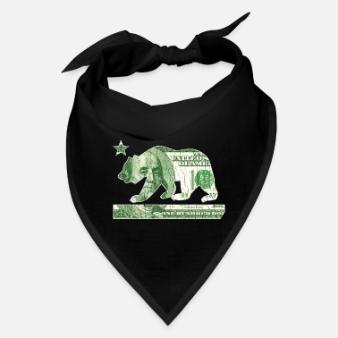 California Flag Money Bear (vintage distressed) - Bandana