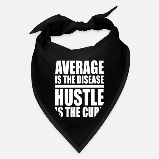 Disease Caps - Average Is The Disease Hustle - Bandana black