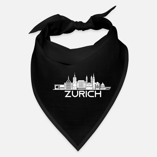 Gift Idea Caps - Zurich Switzerland gift - Bandana black
