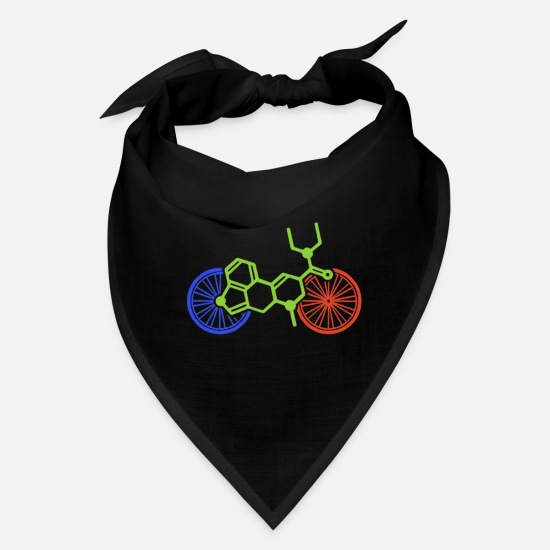 Lsd Caps - LSD Bicycle Day Albert Hofman Acid Molecule - Bandana black