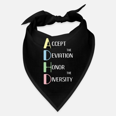 Adhd Awareness ADHD print Empowerment Neurodiversity Awareness - Bandana