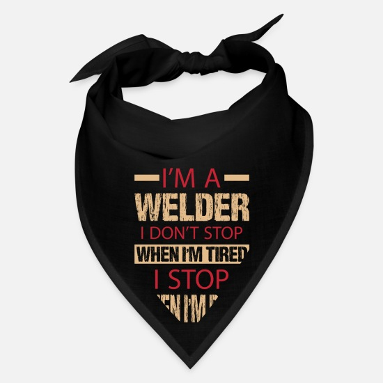 Funny Caps - welding metal welder technique profession gift - Bandana black