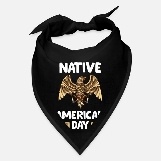 American Football Caps - Native American Day - eagle - Bandana black