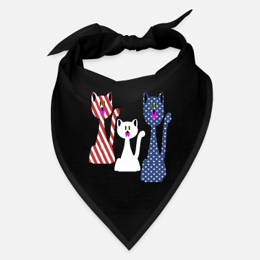 Th Of July Cat Lovers 4 th of july - Bandana