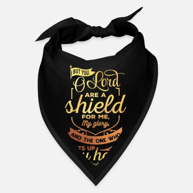 Jesus The Lord Is A Shield Christian Religious Blessed - Bandana