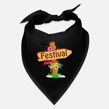 Element colorfully decorated wooden signpost festival - Bandana