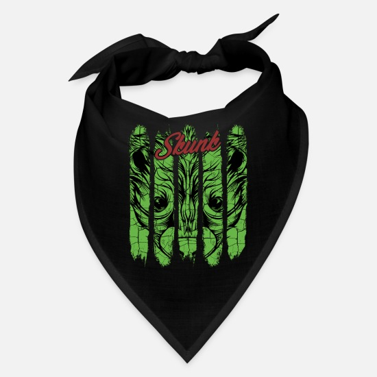Forest Animal Caps - Vintage Retro Style Skunk Face Stink Cool Wildlife - Bandana black