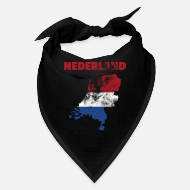 Holland Netherlands flag map retro - Bandana
