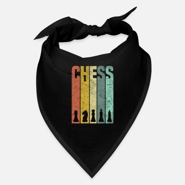 Queen Retro Chess Silhouette - Great Chess Design - Bandana