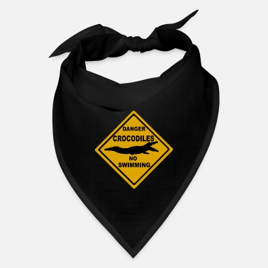 Road Sign Kangaroos Danger Crocodiles no swimming Road Sign Australia - Bandana